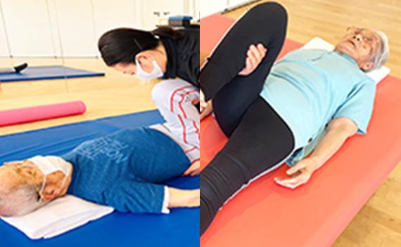 マット上での関節・筋肉の運動